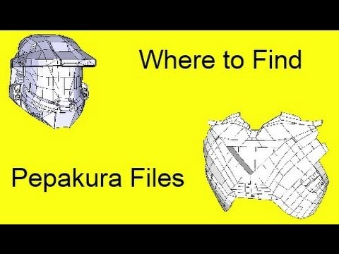 Where to find Pepakura files