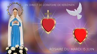 Rosaire du mardi 15 juin, replay