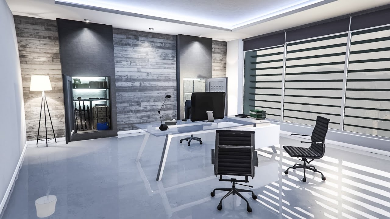 Gta online maze bank office interior showcase youtube for Design your office online