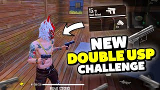 New Double USP Gun Only Challenge || Free Fire || Desi Gamers