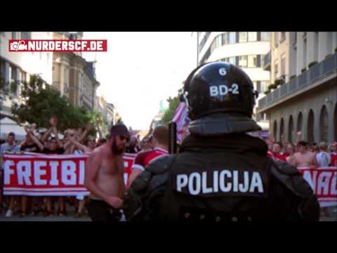 NK Domzalê - SC Freiburg // Europa-Quickie (Marsch + Pyroshow)