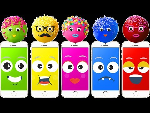 Thumbnail: Wrong Heads Phone Colorful Pop Cakes Finger Family Colors Learn
