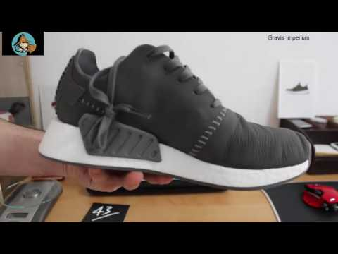 new product f7841 cfdae Adidas Wings + Horns NMD_R2 Leather Grey Unboxing and Review