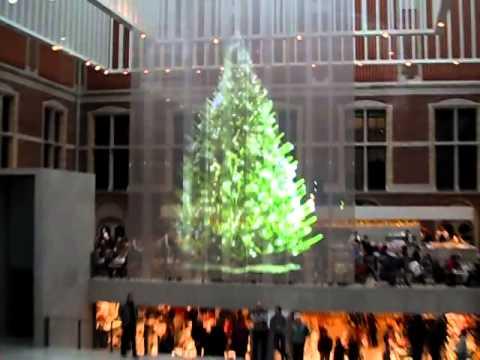 hologram christmas tree amsterdam
