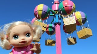 My Baby Alive doll Anna Going to Paultons Family Theme Park | Home of Peppa Pig World!!! Bananakids
