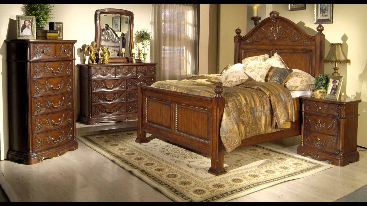 Wood Bedroom Set Youtube