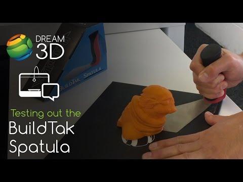 Testing Out The BuildTak Spatula / 3D Printing Scraper | Dream 3D