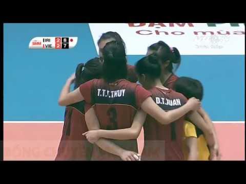 Iran Vs Vietnam l 2016 Asian Women's Cup Volleyball Championship l Pool A l Set 5
