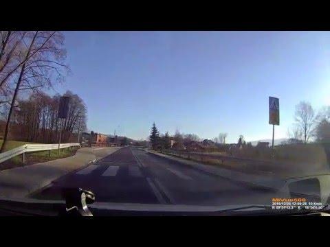 Agresywny Pirat Drogowy Bielsko-Biała - SB6446H. Wyprzedzenie na przejsciu dla pieszych.
