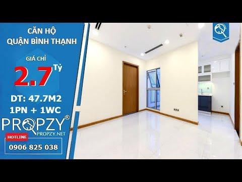 Bán căn hộ Officetel Vinhomes Central Park, bố trí 1 phòng ngủ với 47.7m2 | Propzy