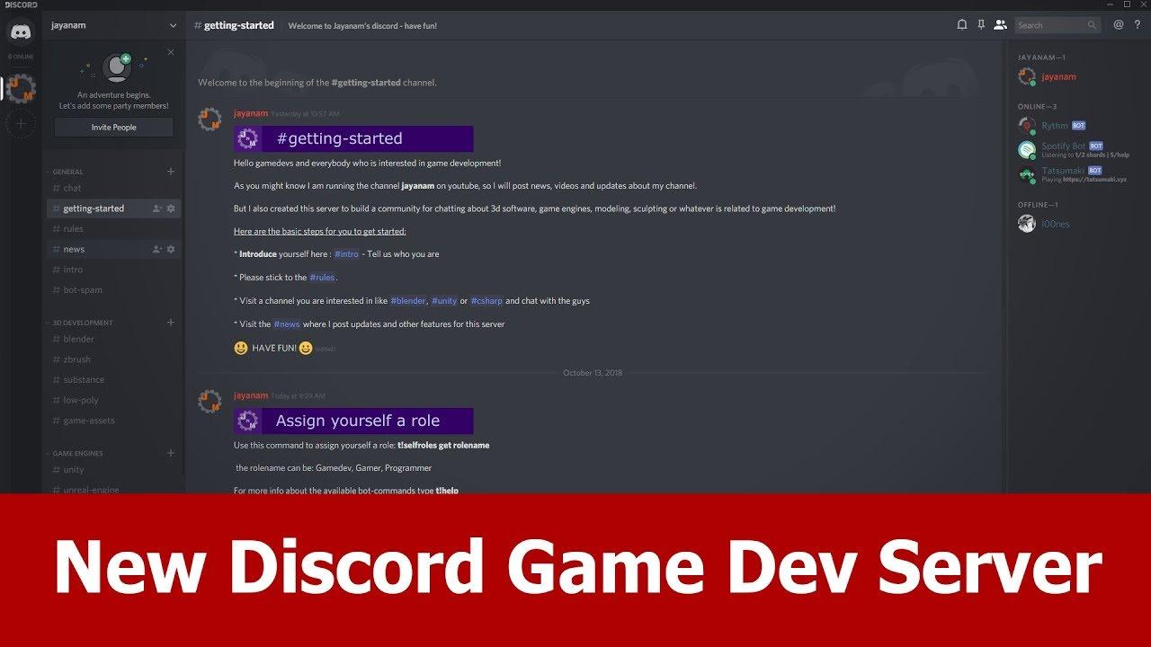 Game Dev Discord Server with Blender channel — Blender Community