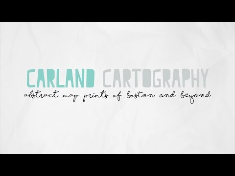 Carland Cartography | Abstract Map Prints of City Neighborhoods | full