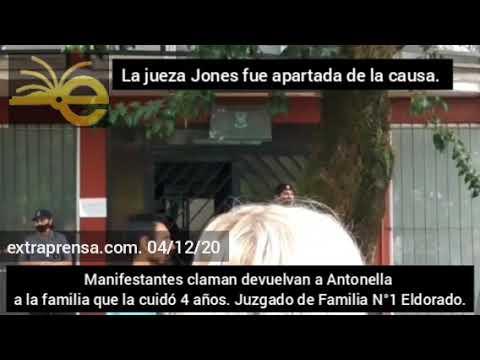 Caso Antonella: Apartan a la Jueza Jones y la Jueza Toledo recibió a la familia
