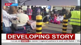 Travellers stranded at JKIA as workers down tools