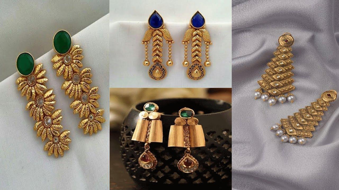 Modern Stylish Gold Earrings Designs