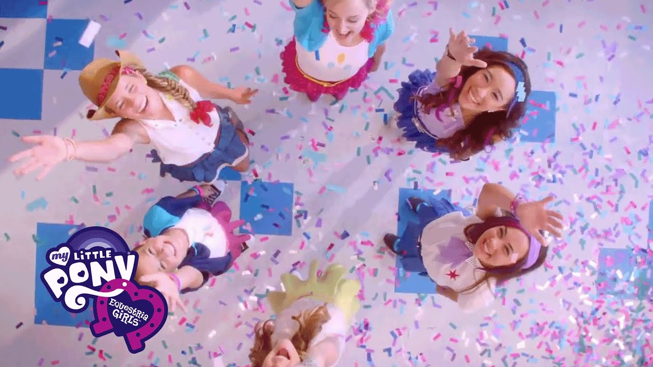 mlp equestria girls   friendship is magic live action music video