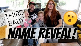 NAME REVEAL FOR OUR THIRD CHILD | KIDS HELP REVEAL (CHAOS)