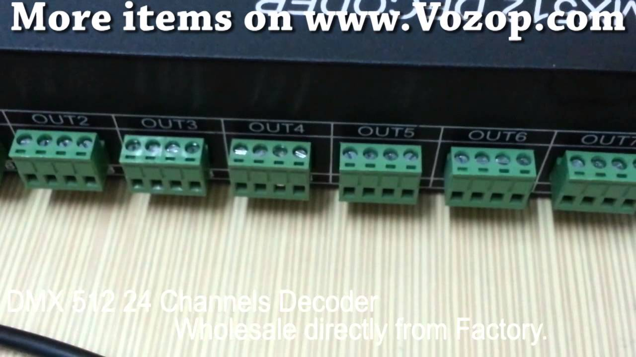 DMX 512 Decoder Controller DMX512 24 Channel Decoder YouTube – Dmx 512 Wiring Diagram