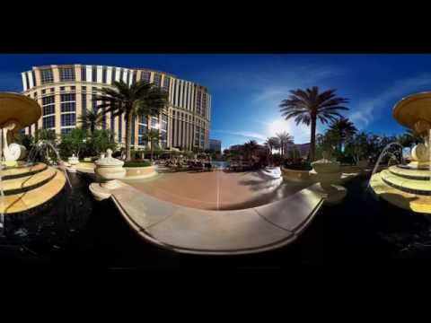 Las Vegas, Palazzo & Venetian pool and fountain 360 experience
