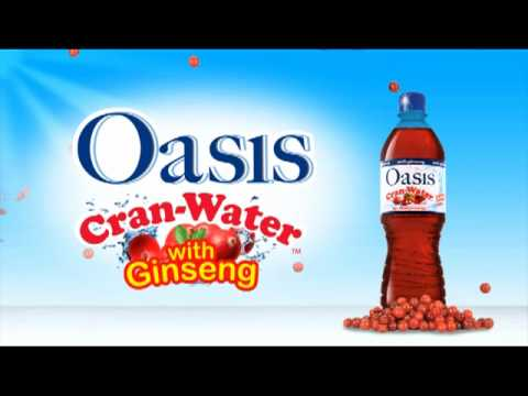 Oasis Premium Bottled Cran Water - YouTube