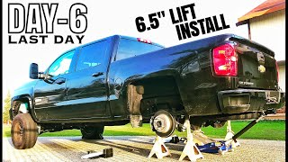 """[Day-6] Finally!! 2017 Silverado 6.5"""" Lift install Chevy 1500 Driveway Project"""