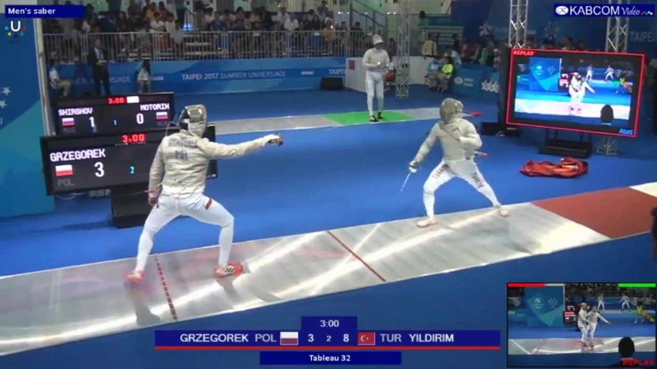 Enver Yildirim Tur Vs Grezogorek Pol Fencing 29th Summer