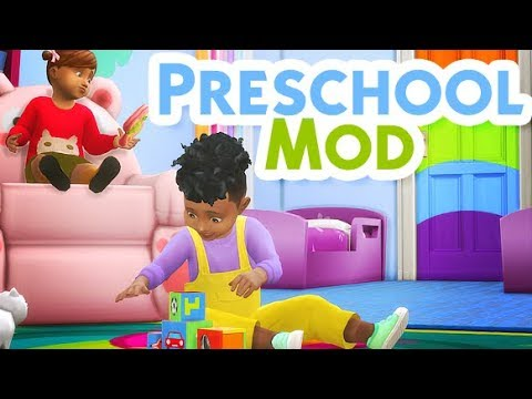 Preschool for toddlers the sims 4 mod review youtube for Mods sims 4 muebles