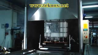 Lavadora industrial para contenedores de aceite usado - limpieza industrial