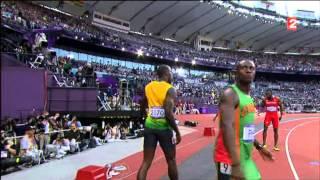 Demie Finale du 100m au JO de Londres 2012