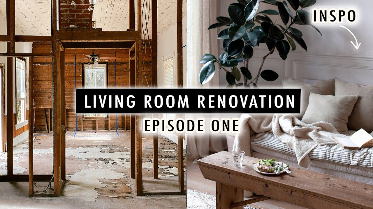 LIVING ROOM RENOVATION EP1 *Our 110-Year-Old Cottage* | XO, MaCenna