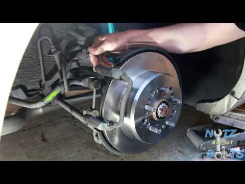 1992 1998 Lexus Ls400 Rear Brakes Rotors And Pads Remove