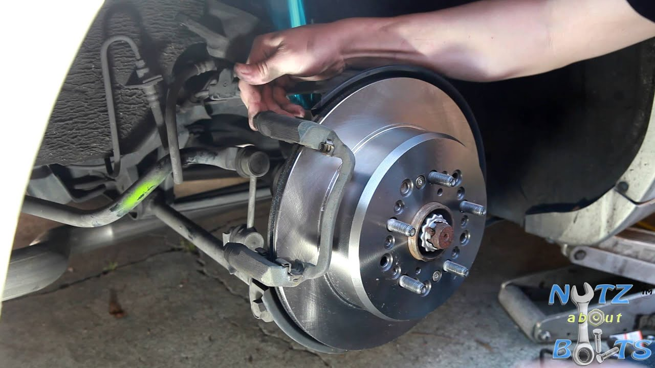 1992 1998 Lexus LS400 Rear brakes rotors and pads remove and