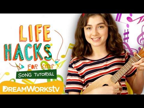 Life Hacks for Kids Theme Song Tutorial on Ukulele   THE DREAMWORKS DOWNLOAD