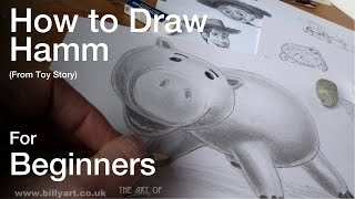How to Draw Hamm from Toy Story for Beginners
