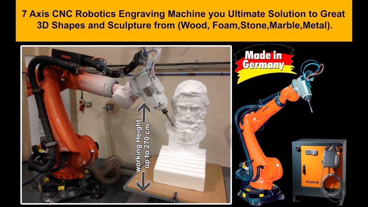 Kuka Cnc Robotic Engraver To Create 3d Styrofoam And Wood