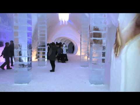 The Hôtel De Glace / The Ice Hotel Walk Through In Québec Canada