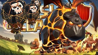 Lava hound attack - Clash of clans(best lava hound strategy)Th9
