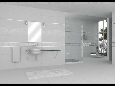 Large White Bathroom Tiles Ideas - YouTube