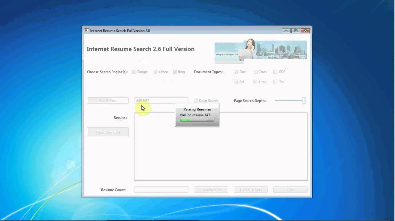 internet resume search software keyword asp net