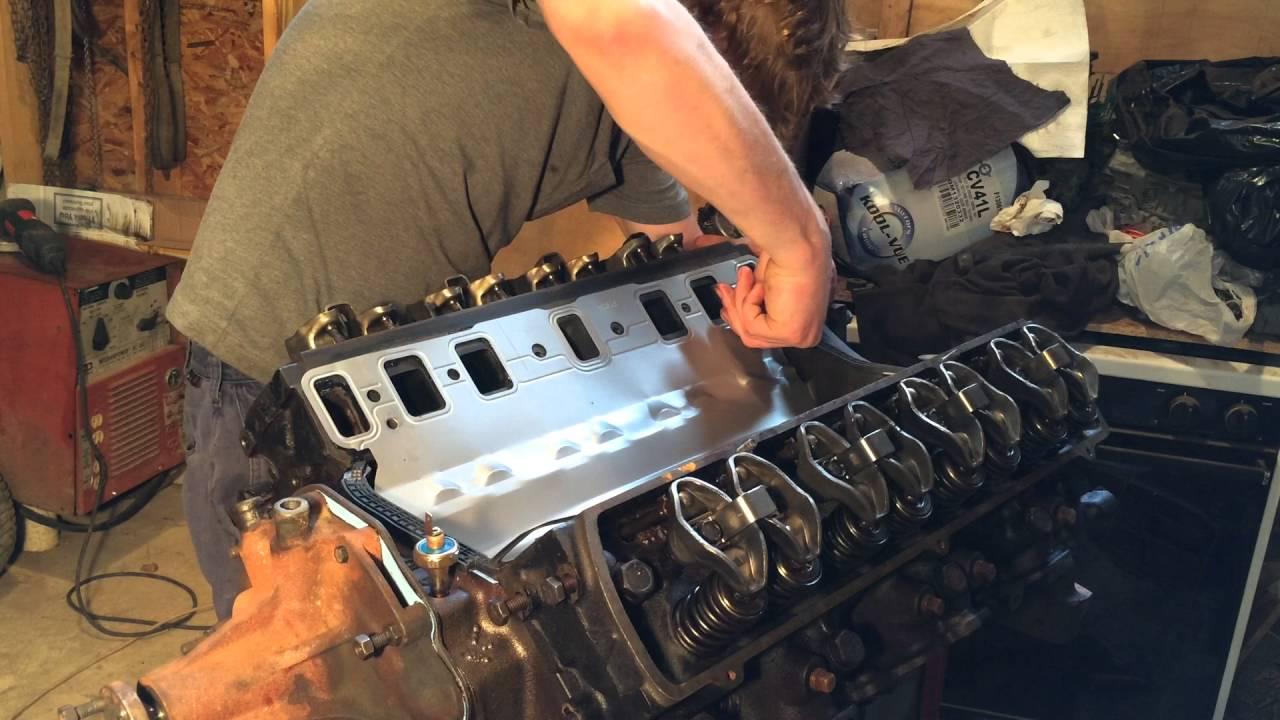 Intake gasket and manifold install