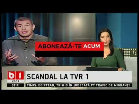 STIRI B1TV- Scandal între bugetarii Dragos Pătraru și Ionut Cristache de la TVR