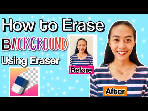 How to erase background on your iphone?
