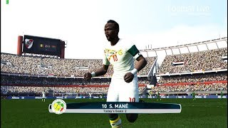 PES 2017 | Senegal vs Burkina Faso | S.MANE hat trick Goal & Full Match | Gameplay PC