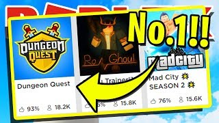 PLAYING THE NUMBER ONE RATED GAME IN ROBLOX!!! | DUNGEON QUEST