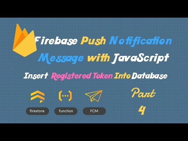 Save FCM token into Mysql Database using AJAX and PHP   Part-4