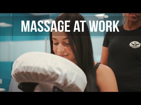 Massage at work with Serenity on demand