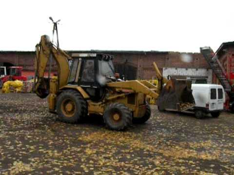 KOPARKO-ŁADOWARKA CAT Cat 438B WWW.KMRENT.PL TEL 663560322.AVI