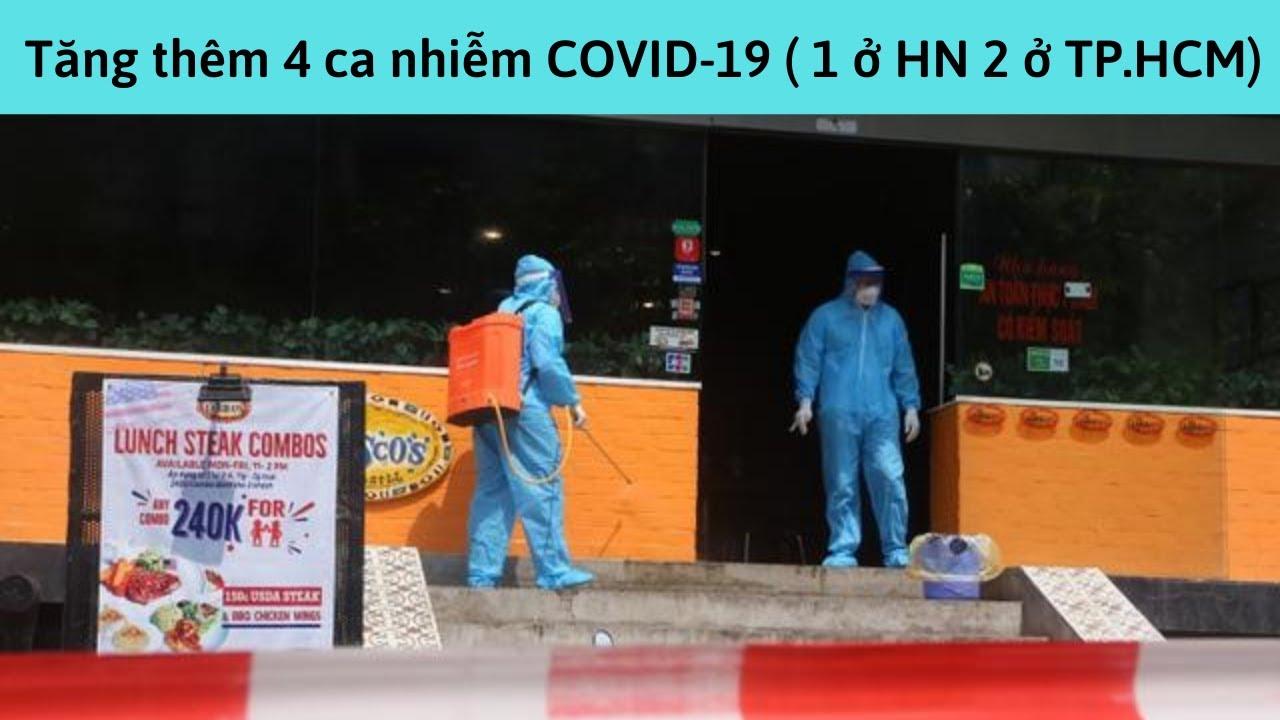 SỐ CA NHIỄM COVID-19 TẠI VN : Công bố 4 ca nhiễm COVID-19, trong đó có 1 ca ở Hà Nội, 2 ca ở TP.HCM