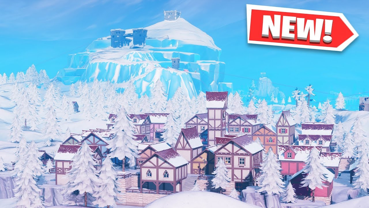 ALL FORTNITE SEASON 7 NEW LOCATIONS and MAP CHANGES! (Happy Hamlet, Polar  Peak & Frosty Flights)