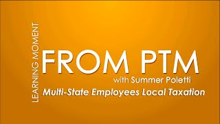 Learning Moments from PTM: Multi-state Employees Local Taxation